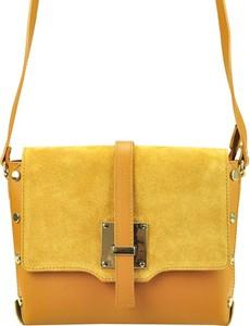 Żółta torebka Mb Classic Bag ze skóry