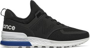 Czarne buty sportowe New Balance 574 w sportowym stylu sznurowane