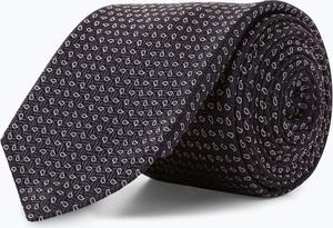 Granatowy krawat Boss z jedwabiu