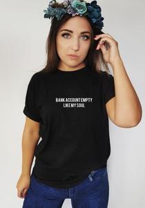 Czarna bluzka Time For Fashion z bawełny z okrągłym dekoltem w młodzieżowym stylu