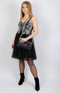 Sukienka Olika rozkloszowana mini z tiulu