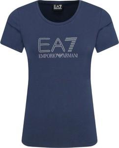 T-shirt Emporio Armani w młodzieżowym stylu z okrągłym dekoltem