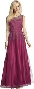 Różowa sukienka Vera Mont maxi bez rękawów z okrągłym dekoltem