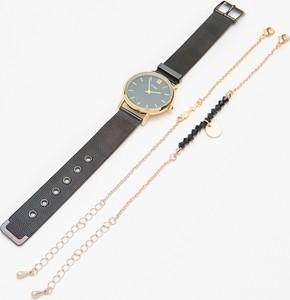 Cropp - Zestaw: zegarek z bransoletkami - Czarny
