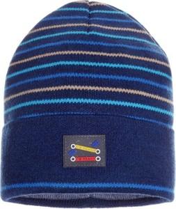 Granatowa czapka Ambra w paseczki