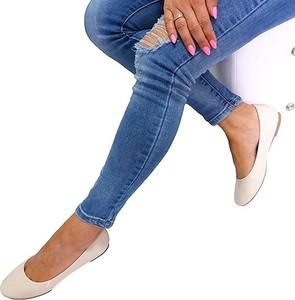 Baleriny New Tlck ze skóry w stylu casual z płaską podeszwą
