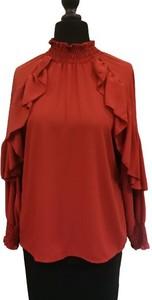 Czerwona bluzka WygodnaModa z długim rękawem