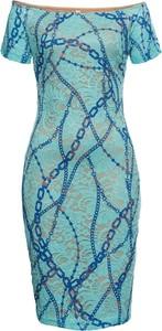 Sukienka bonprix BODYFLIRT boutique hiszpanka mini z krótkim rękawem