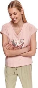 Bluzka Top Secret z bawełny z krótkim rękawem