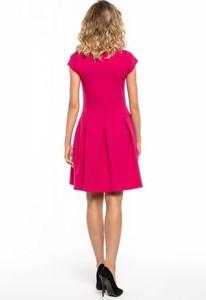 Różowa sukienka Tessita z krótkim rękawem z bawełny