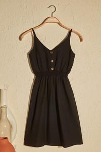 Sukienka Trendyol rozkloszowana z dekoltem w kształcie litery v na ramiączkach