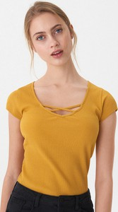 Żółty t-shirt House z krótkim rękawem
