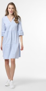 Niebieska sukienka More & More z dekoltem w kształcie litery v