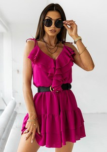 Różowa sukienka Latika rozkloszowana mini