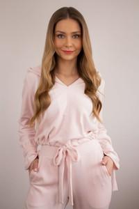 Różowy dres La Perla z bawełny