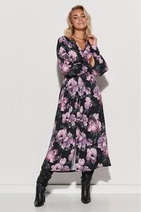 Sukienka Makadamia z dekoltem w kształcie litery v z długim rękawem