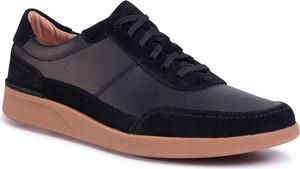 Czarne buty sportowe Clarks ze skóry