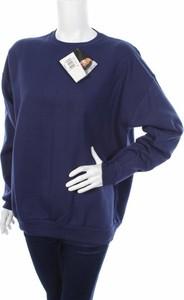 Granatowa bluzka Hanes w stylu casual z długim rękawem