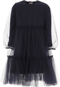 Granatowa sukienka dziewczęca Il Gufo