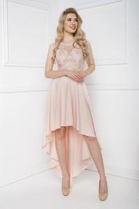 Różowa sukienka Marcelini gorsetowa z tiulu