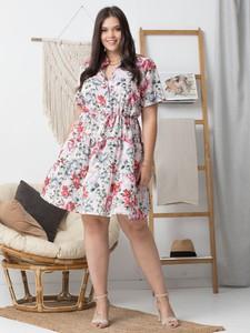 Sukienka KARKO mini dla puszystych