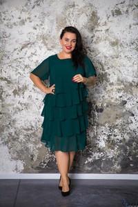 Sukienka tono.sklep.pl dla puszystych z krótkim rękawem