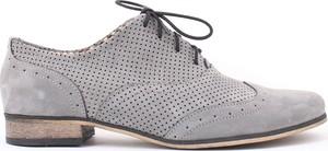 Zapato jazzówki dziurkowane - skóra naturalna - model 246 mix - kolor grafit