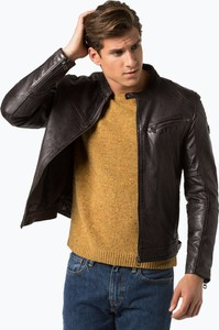 Brązowa kurtka Gipsy w stylu casual ze skóry