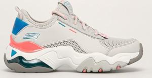 Buty sportowe Skechers sznurowane z płaską podeszwą ze skóry