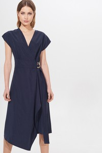 Granatowa sukienka Mohito midi