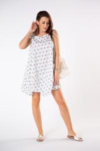 Sukienka Ptakmoda.com z odkrytymi ramionami mini bez rękawów