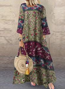 Sukienka Arilook w stylu boho z okrągłym dekoltem oversize