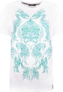 T-shirt Roberto Cavalli T-shirt z okrągłym dekoltem z bawełny
