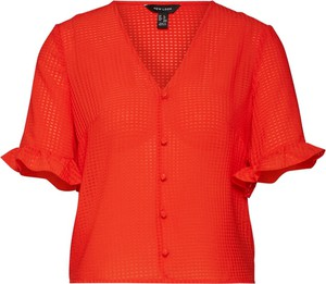 Czerwona bluzka New Look z krótkim rękawem