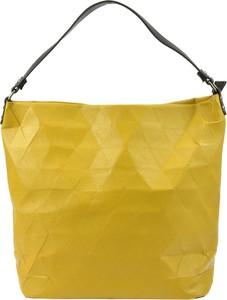 Żółta torebka Lookat w stylu casual do ręki duża