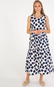 Sukienka Unisono z bawełny z okrągłym dekoltem maxi
