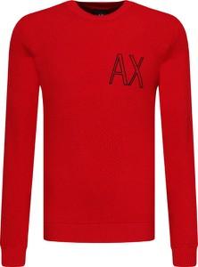 Czerwony sweter Armani Exchange