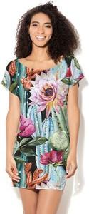 Sukienka COLOUR PLEASURE z okrągłym dekoltem