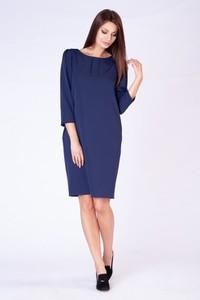 Sukienka butik-choice.pl z okrągłym dekoltem z długim rękawem