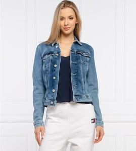 Kurtka Tommy Jeans z jeansu krótka w stylu casual