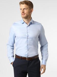 Niebieska koszula Finshley & Harding z długim rękawem z klasycznym kołnierzykiem