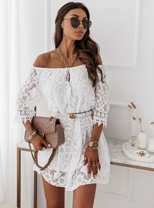 Sukienka Pakuten mini z długim rękawem hiszpanka