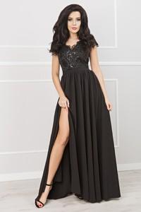 Sukienka Ptakmoda.com z dekoltem w kształcie litery v gorsetowa z krótkim rękawem