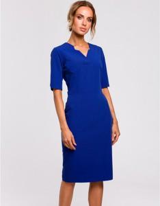 Fioletowa sukienka MOE ołówkowa