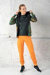 Pomarańczowe spodnie sportowe Nessi Sportswear z dresówki