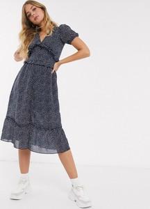 Granatowa sukienka Influence midi