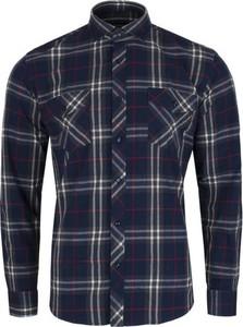 Niebieska koszula Speed.A z bawełny z włoskim kołnierzykiem w stylu casual