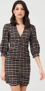 Sukienka V by Very w stylu casual koszulowa z dekoltem w kształcie litery v