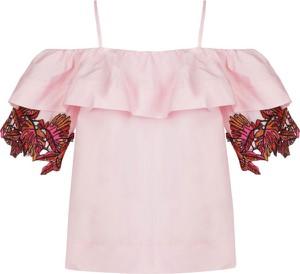 Różowa bluzka Pinko z krótkim rękawem