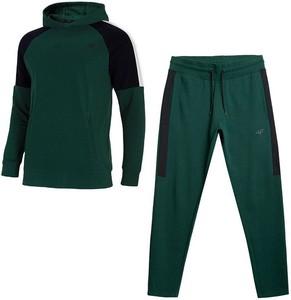 Zielony dres 4F w sportowym stylu z bawełny